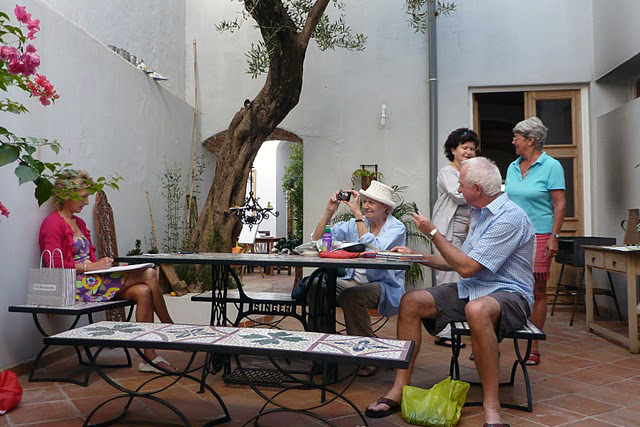 Photo of a group of artists on a painting holiday